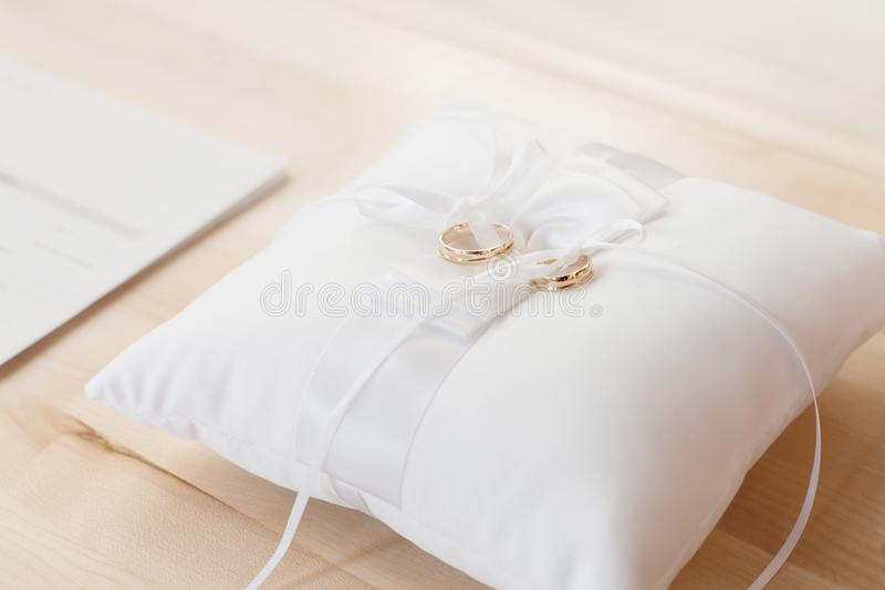 Wedding Rings On Pillow Free Public Domain Cc0 Image
