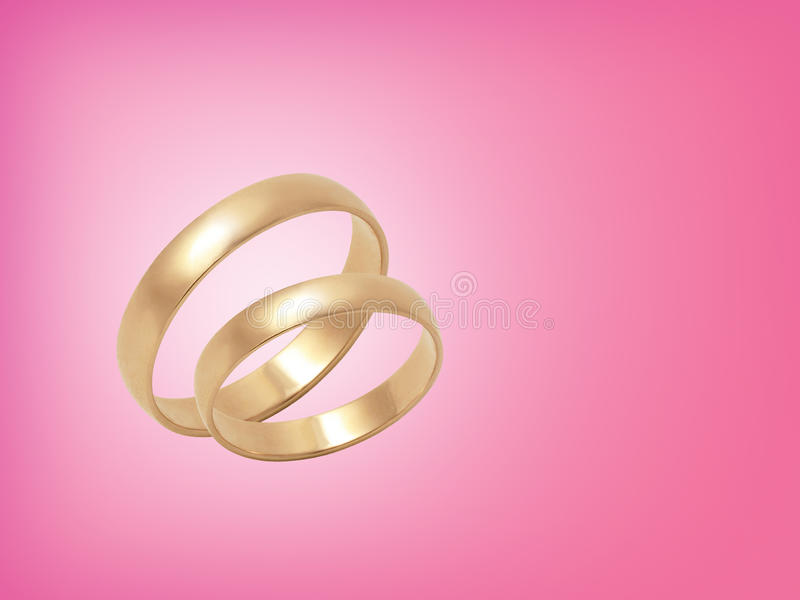 Download Wedding Rings On Pink Background Stock Photo - Image: 19080690