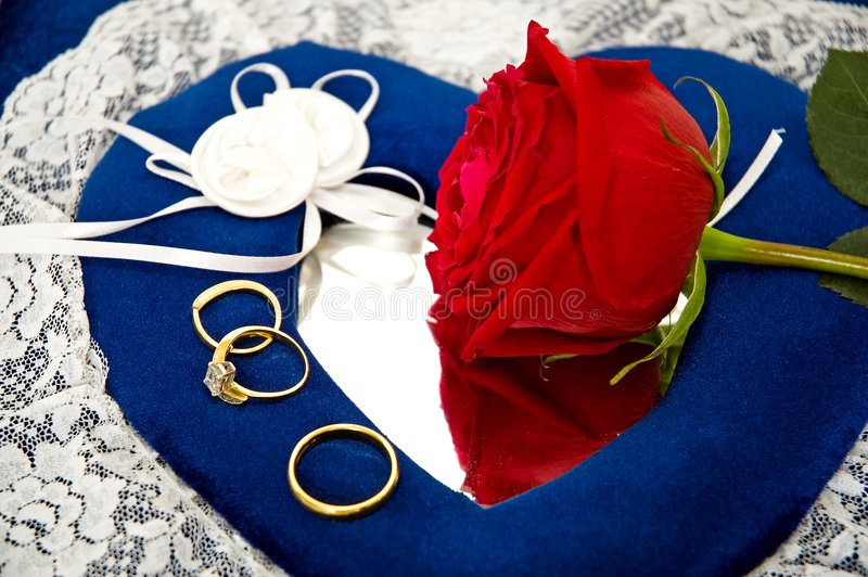 Download Wedding Rings and Roses stock photo. Image of attractive - 1775518