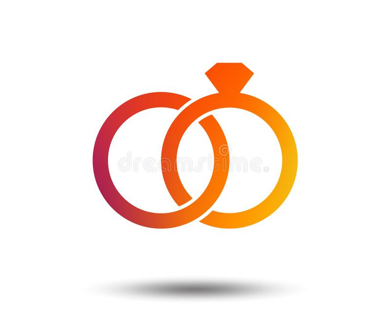 Wedding Rings Sign Icon Engagement Symbol Stock Vector