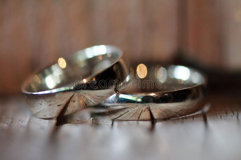 Download Wedding rings on the table stock photo. Image of rings - 26237180