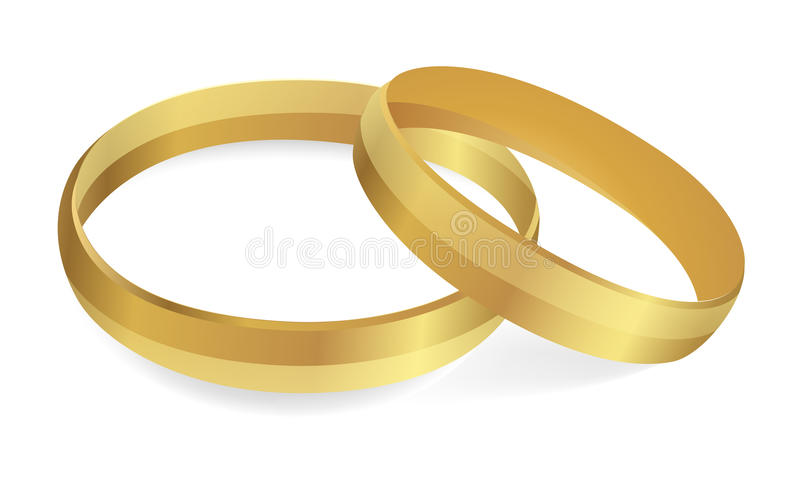 Wedding rings. Vector Illustration royalty free stock image