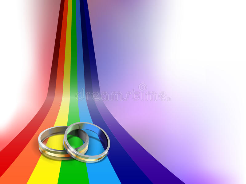 Wedding rings royalty free illustration