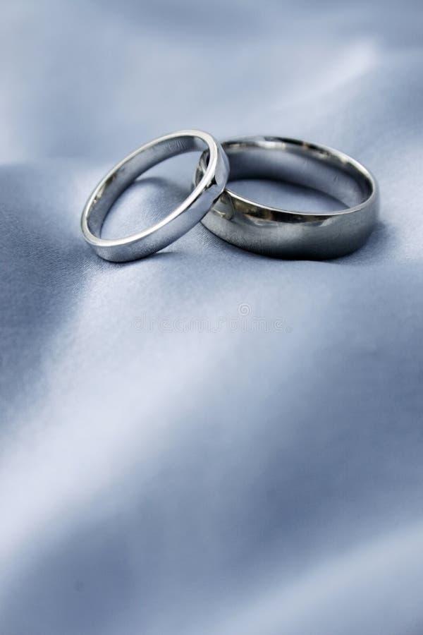 Wedding rings - white gold royalty free stock photos