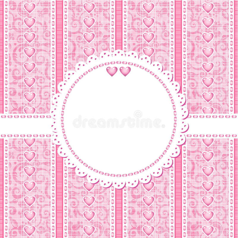 Download Wedding, Romantic Or Valentine Day Card Template Stock Vector - Image: 25067411