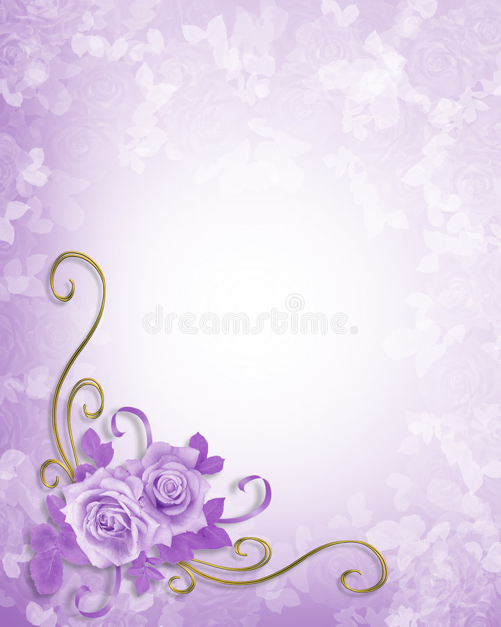 Wedding Roses Lavender Background royalty free illustration