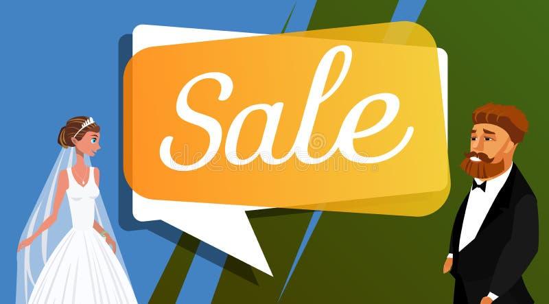 Wedding Salon, Shop Sale Vector Banner Template stock illustration
