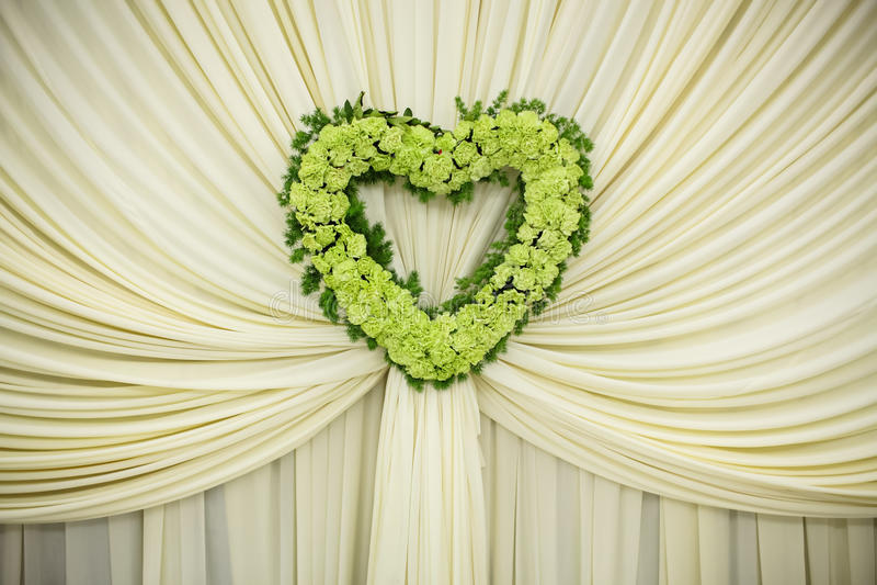 Wedding Scene. Flowers at an indoor wedding royalty free stock photos