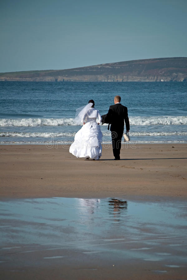 Download Wedding at the sea stock image. Image of beautiful, jump - 18874857