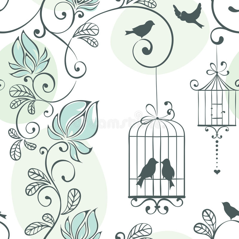 Wedding seamless pattern stock illustration