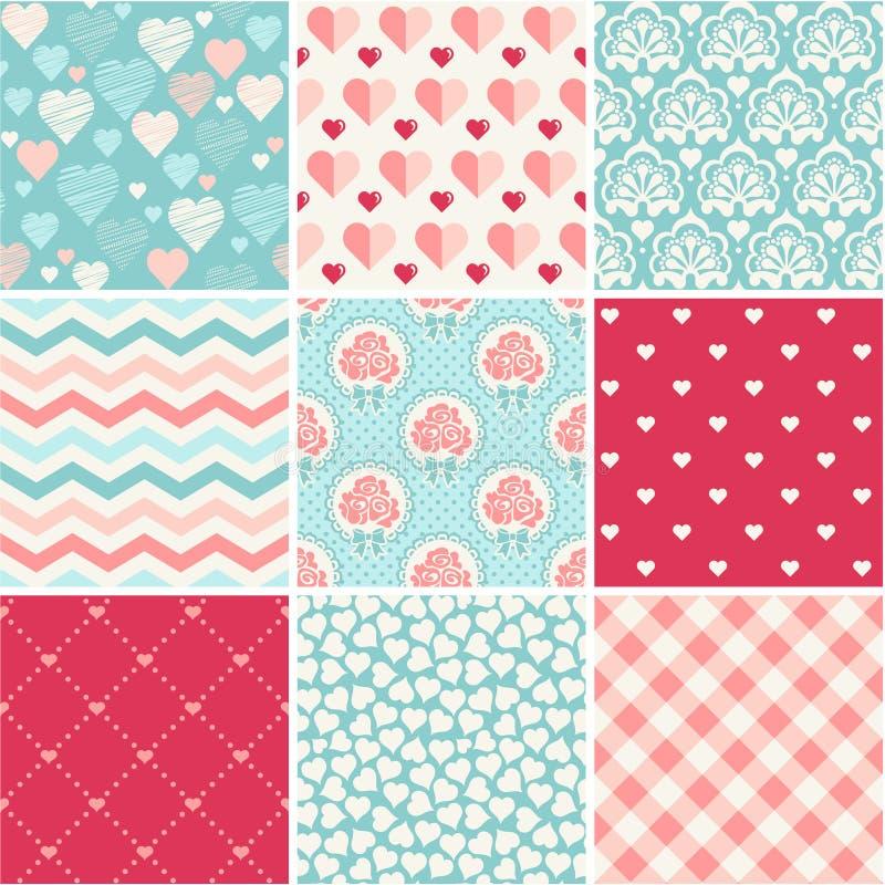 Free Wedding Seamless Patterns Set Stock Image - 40186971