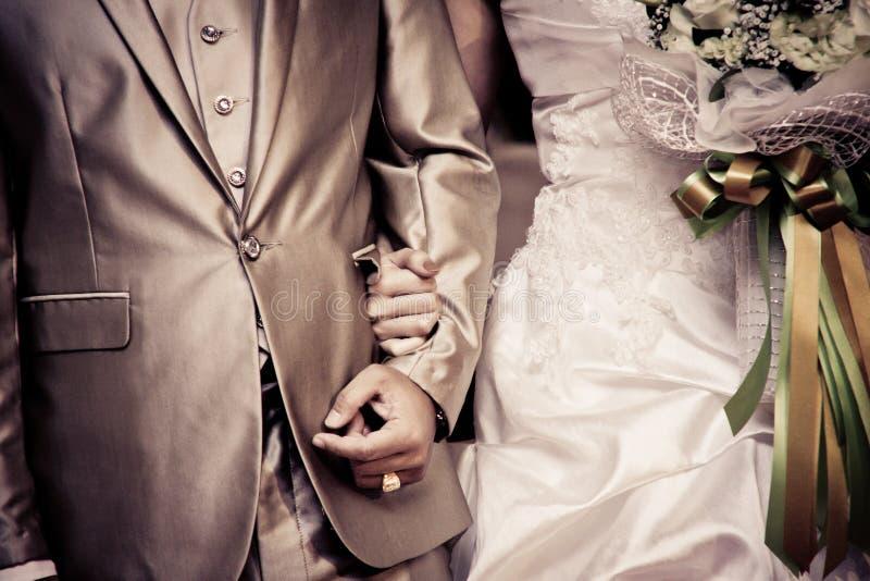Wedding season for bride and bridegroom. happness season royalty free stock image