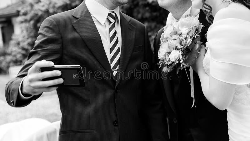 Wedding selfie royalty free stock photo