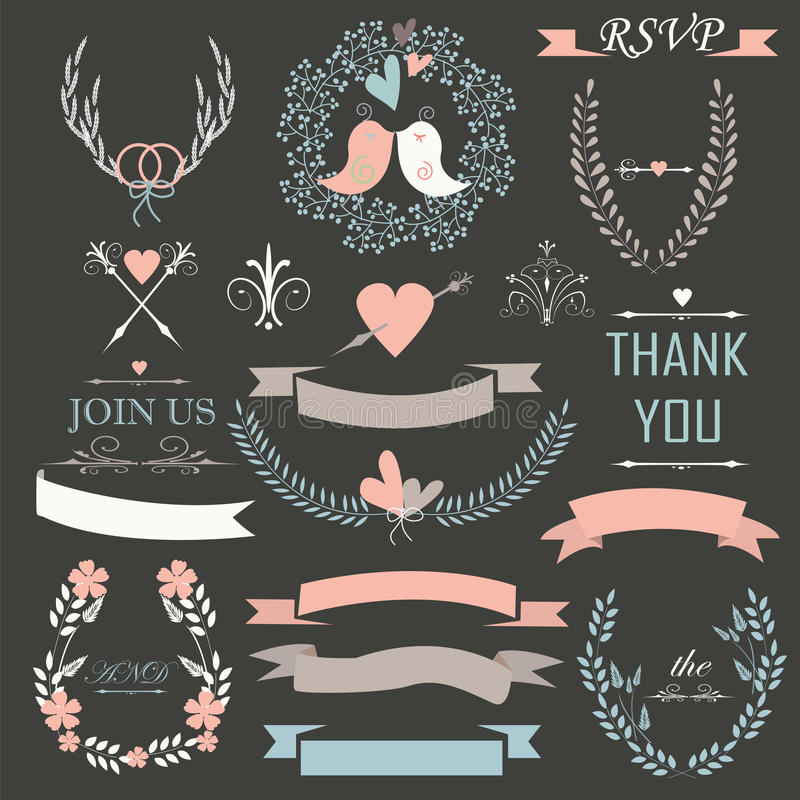 Wedding set stock illustration