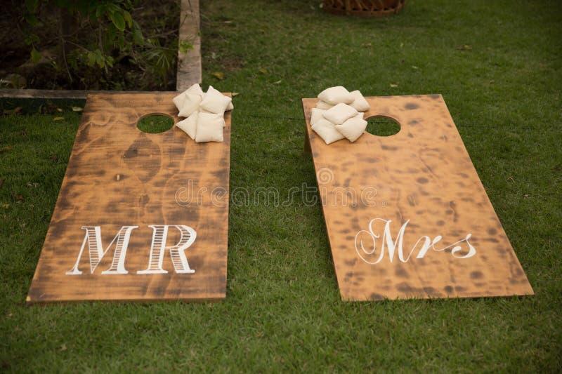Wedding details at Martoca Beach Garden royalty free stock image