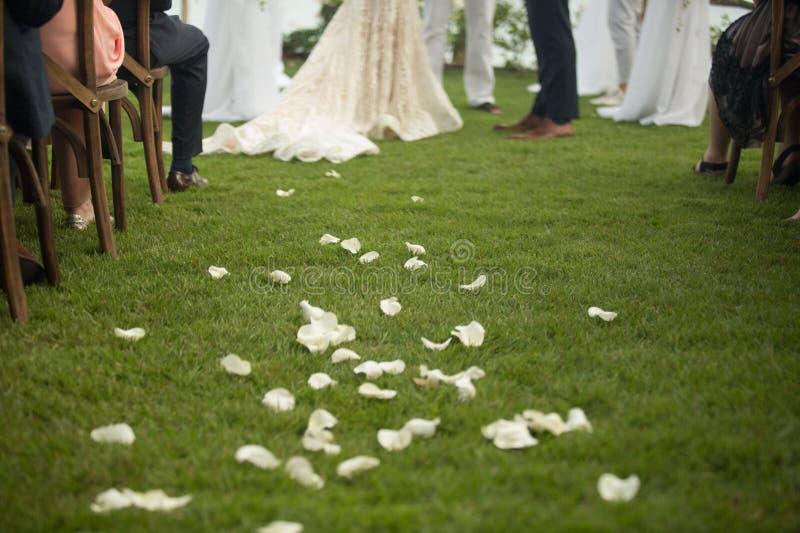 Wedding details at Martoca Beach Garden royalty free stock photo