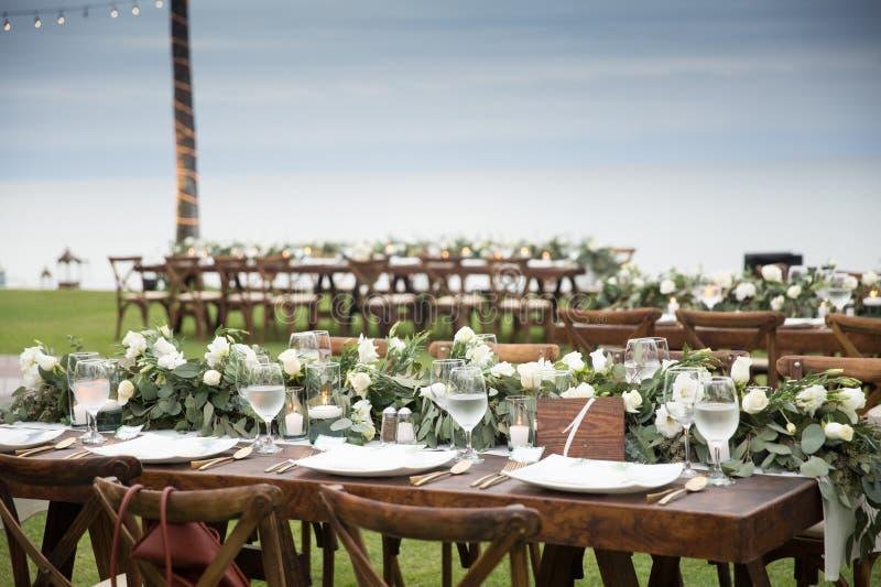 Wedding details at Martoca Beach Garden stock images
