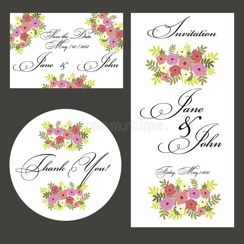 Download Wedding Set stock vector. Image of date, brochure, floral - 32381875