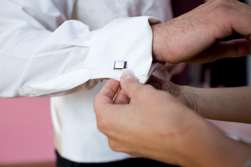 Wedding shirt royalty free stock image