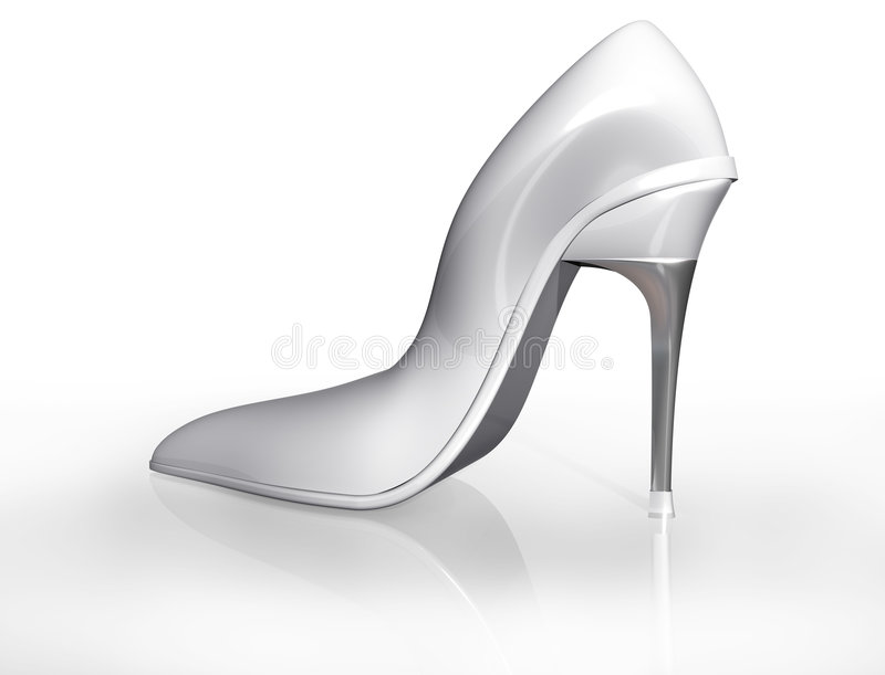 Wedding shoe stock illustration