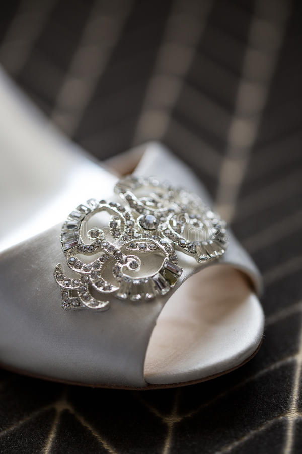 Download Wedding Shoe Close Up stock photo. Image of heels, bridal - 34630044