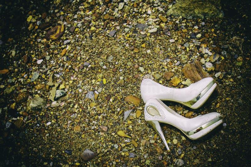 wedding shoe stock photo