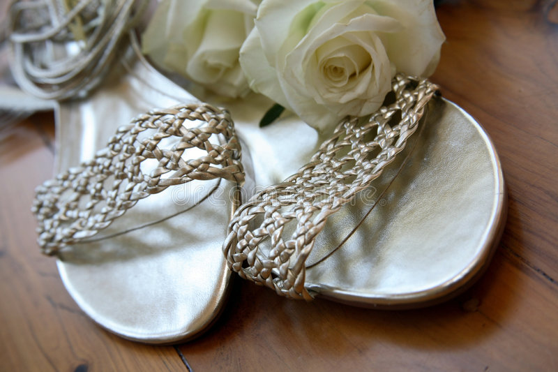 Download Wedding Shoes stock photo. Image of shoes, silver, engagement - 1661046