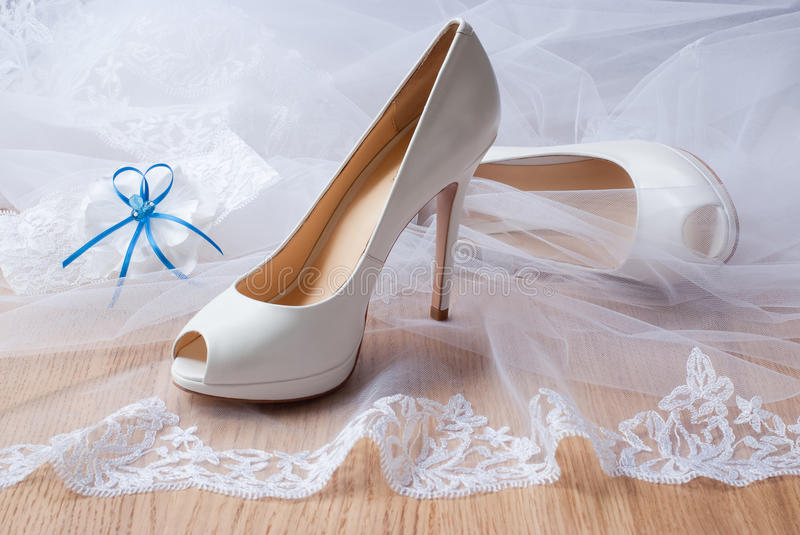 Wedding shoes. royalty free stock images