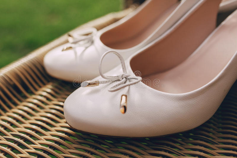 Wedding shoes outdoor stock image. Image of october, grass - 66995915