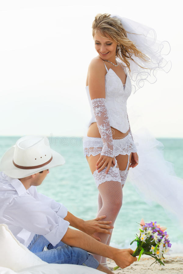 Download Wedding shot stock image. Image of emotions, lady, beach - 29691167