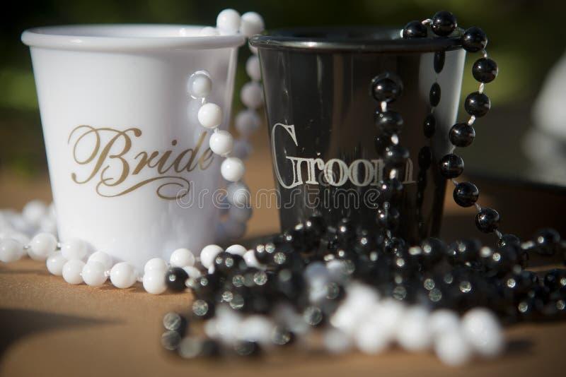 Wedding shot glasses royalty free stock photography
