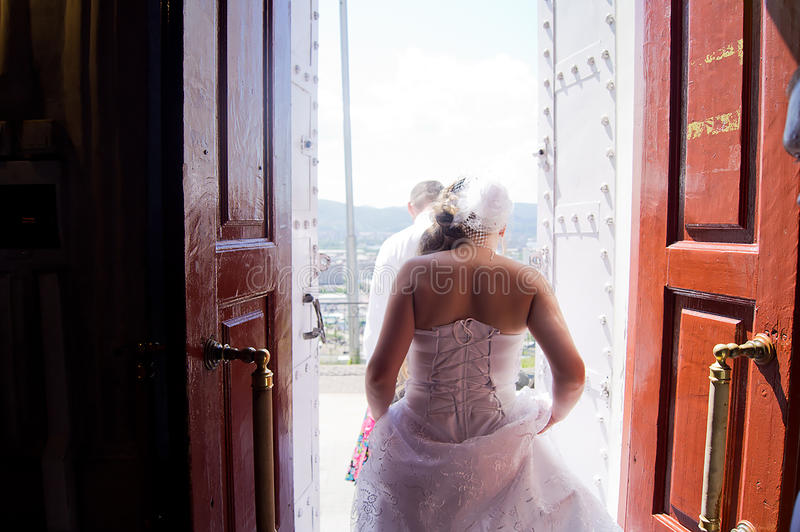 Wedding in Siberia royalty free stock photo