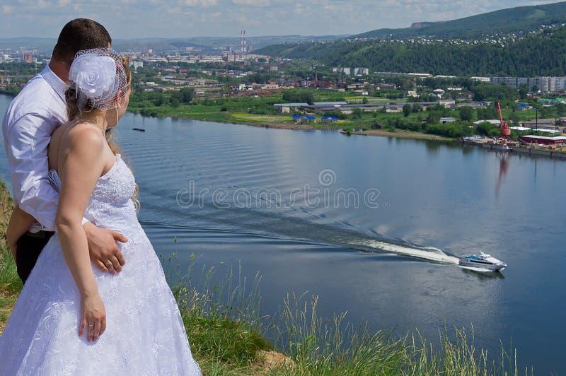 Wedding in Siberia royalty free stock photos