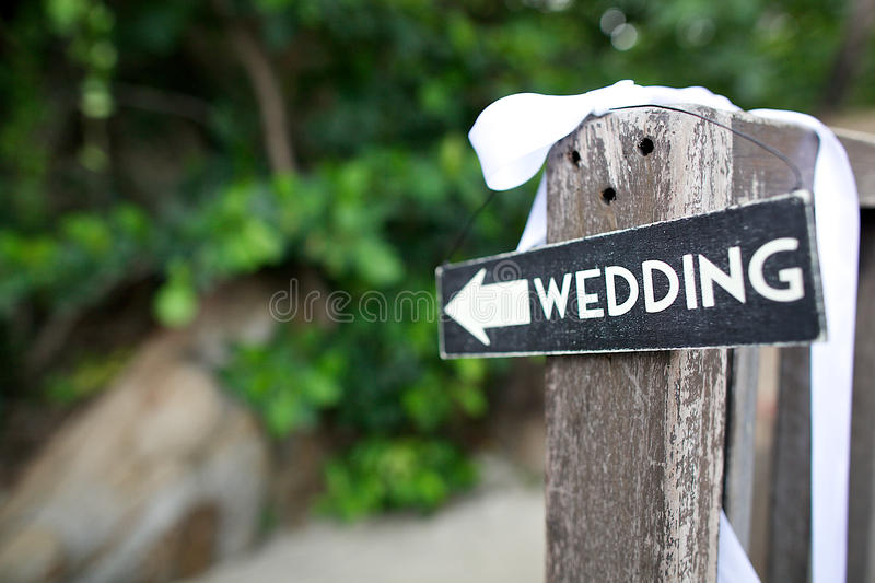 Wedding sign royalty free stock photo
