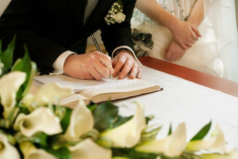 Wedding signature stock image