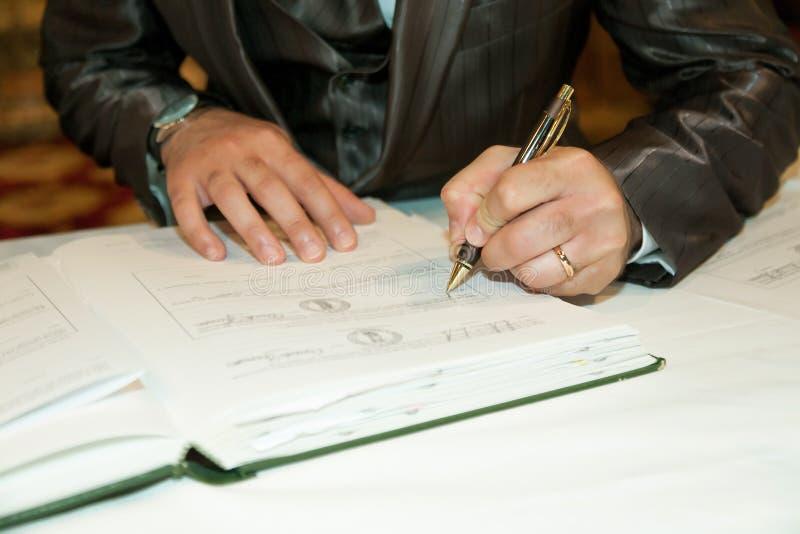 Wedding signature royalty free stock photos