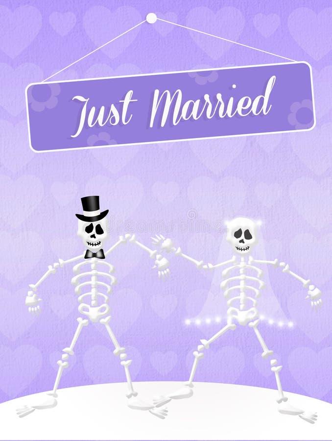 Download Wedding of skeletons stock illustration. Image of nature - 37212362