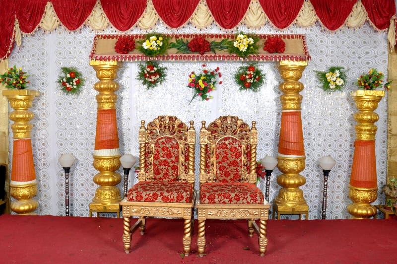 Wedding stage. Camera shot on wedding stage stock photo