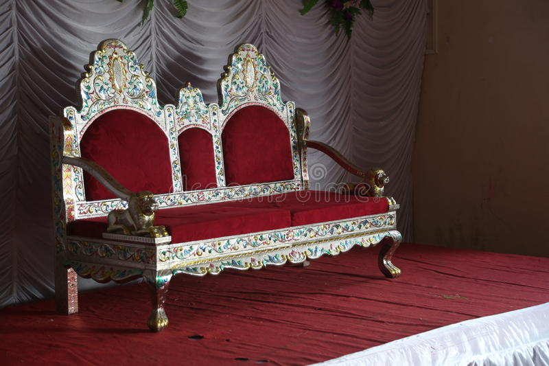 Wedding Stage with chair stock image