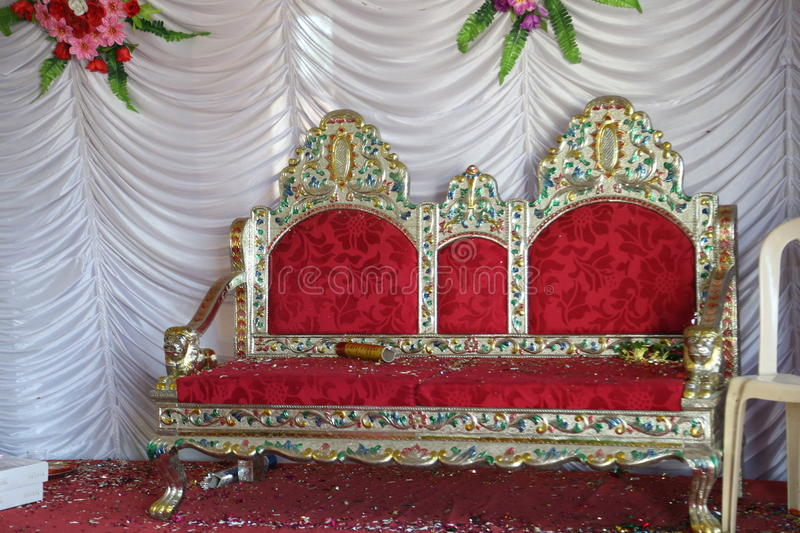Wedding Stage with chair. Indian Wedding Stage with chair royalty free stock image