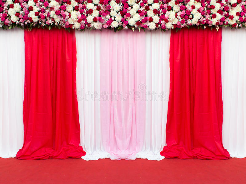 Wedding stage decoration for take picture stock photo