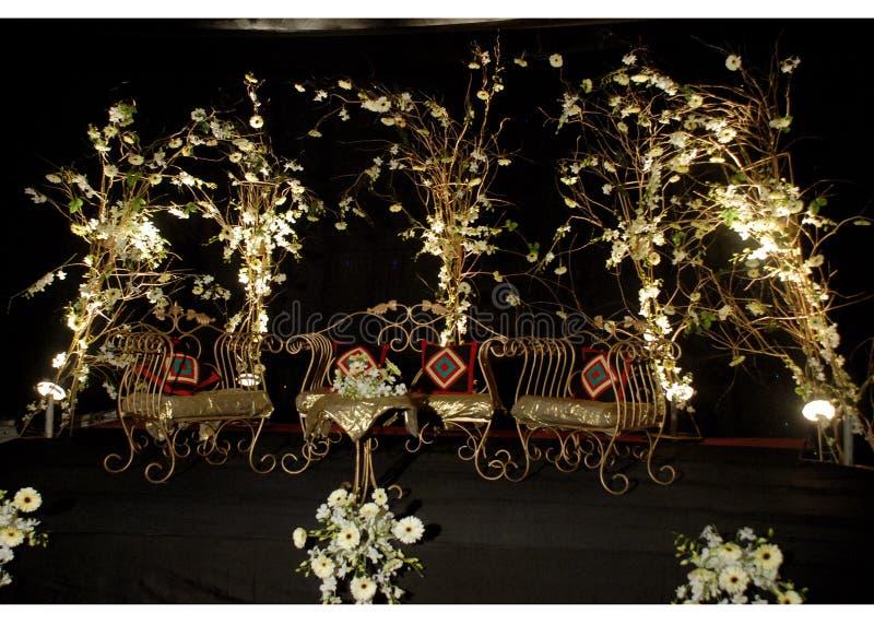 Wedding stage. Night queen wedding stage stock photos