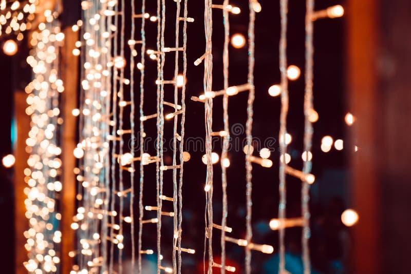 Wedding String Lights. Close up of Wedding String Lights stock image