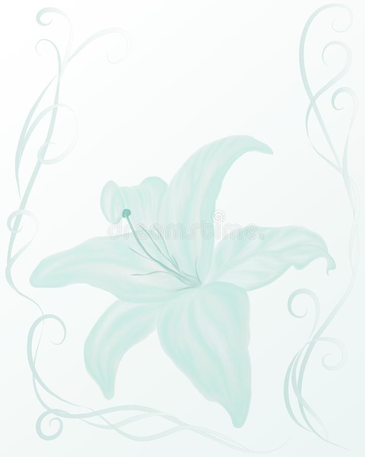 Wedding style frame with tender lily royalty free stock photography