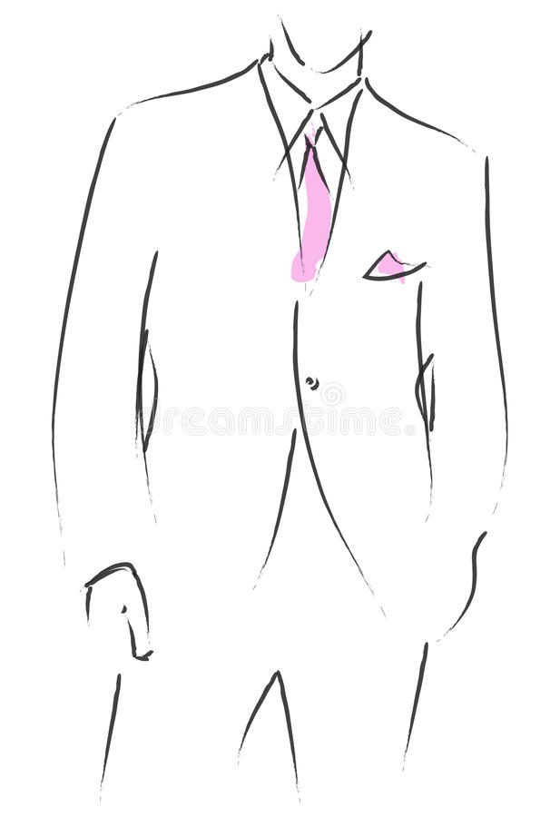 Wedding suit royalty free illustration