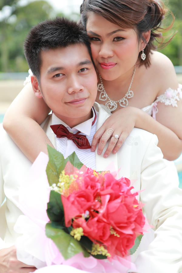 Download Wedding suit of couple stock image. Image of flower, couple - 20960641