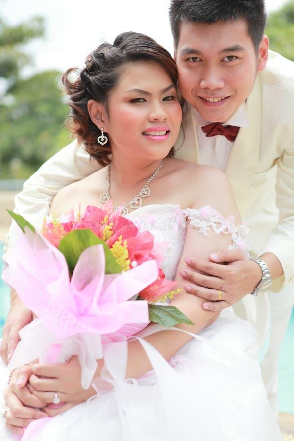 Wedding suit of couple royalty free stock photo