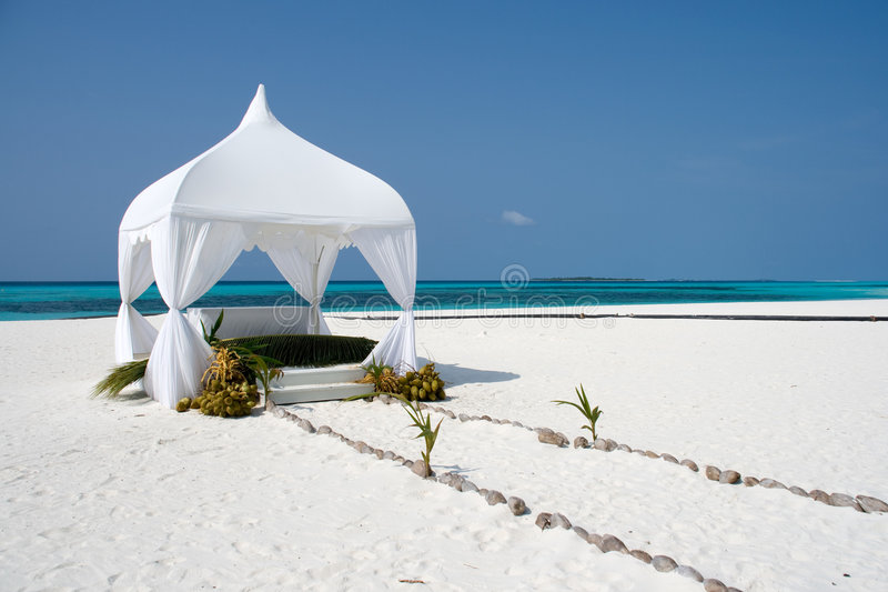 Wedding summerhouse royalty free stock photography