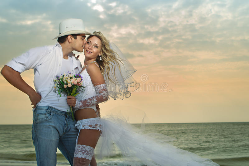 Wedding sur la plage photo libre de droits