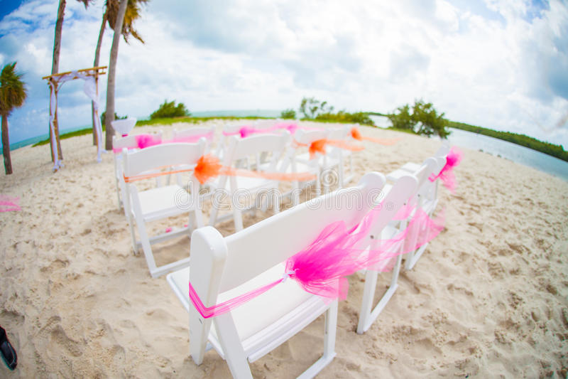 Wedding sur la plage tropicale images libres de droits